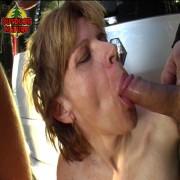 This horny mature slut loves sucking cocks