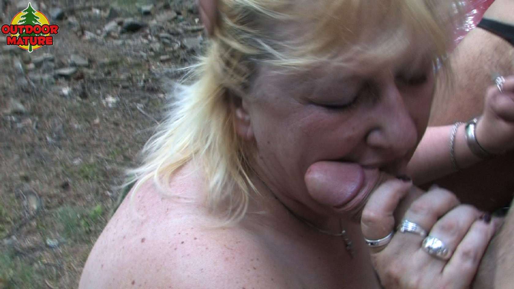 Chubby blonde wife oral and full sex on the couch at