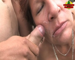This mature cumslut takes you on anytime anywhere