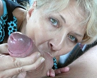 Two cocks for this horny outdoor loving mature slut